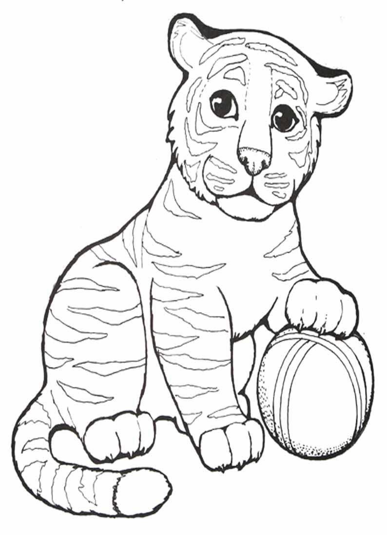 Раскраска тигр - 3