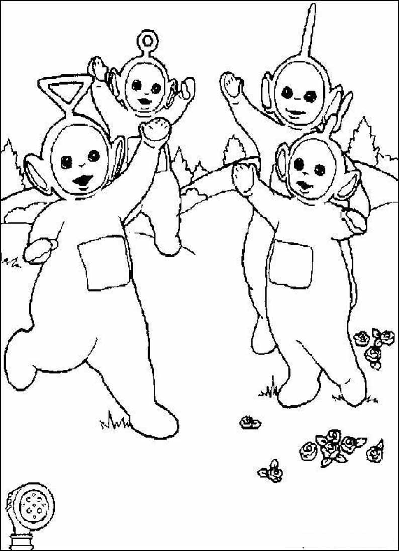 Раскраски из мультфильма Телепузики!