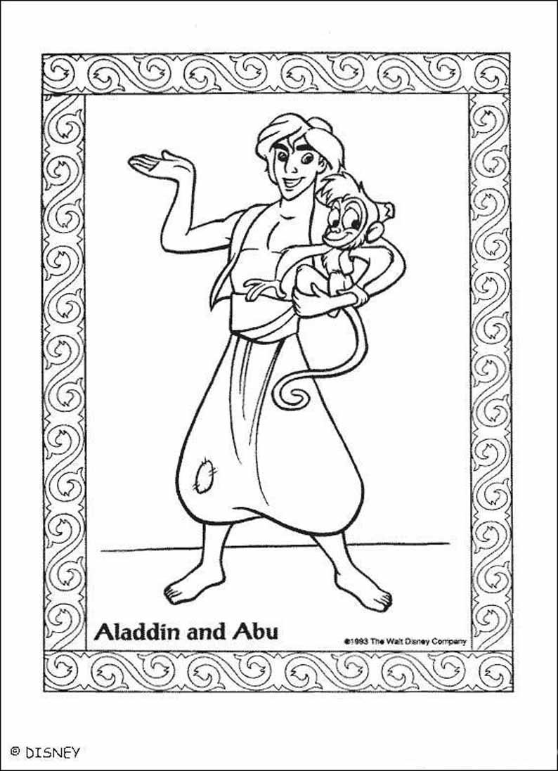 Раскраски из мультфильма алладин ,раскраски алладин ...