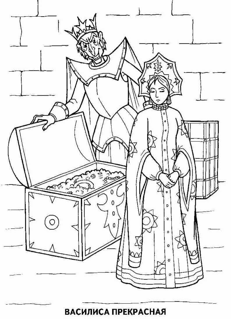Сказка лисичка-сестричка и серый волк раскраска
