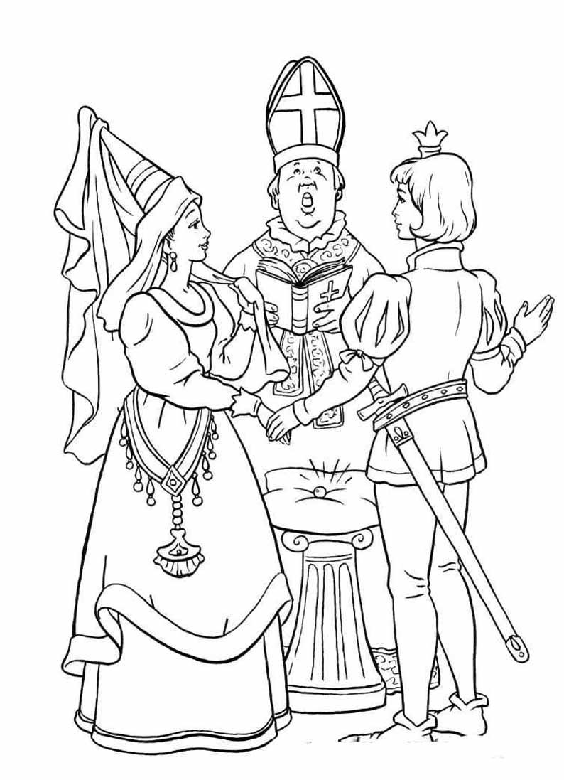 Раскраски принцессы из мультфильма