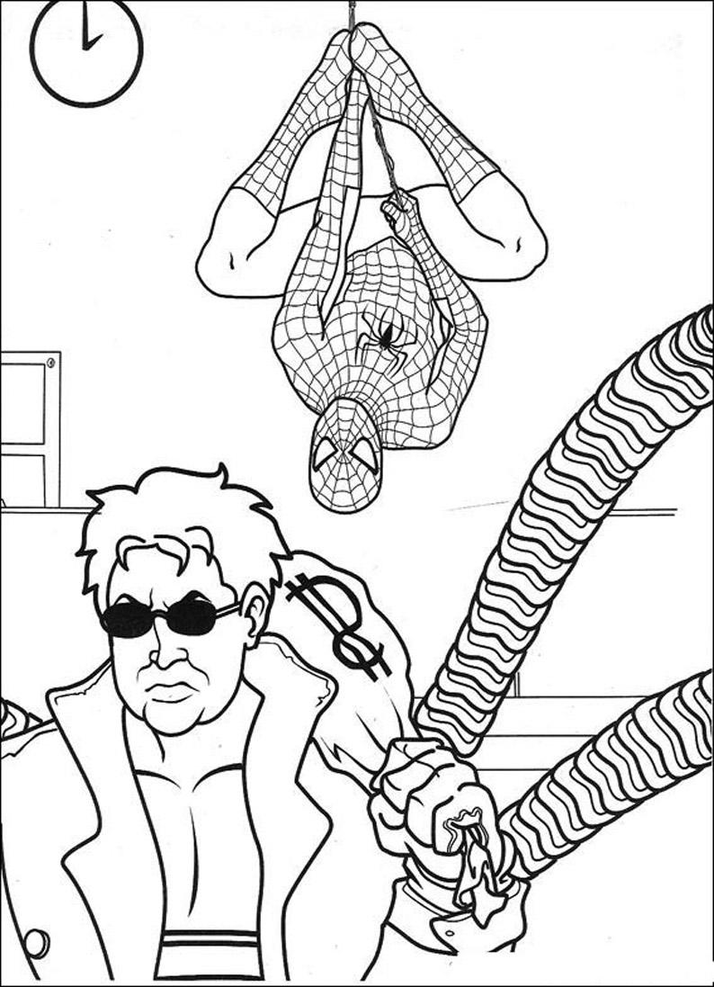 Детские раскраски человека паука